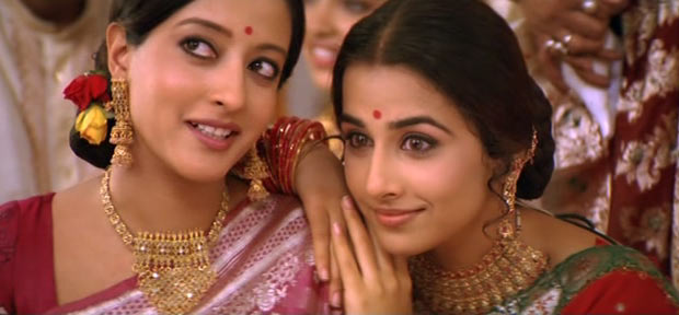 Raima Sen and Vidya Balan in Parineeta