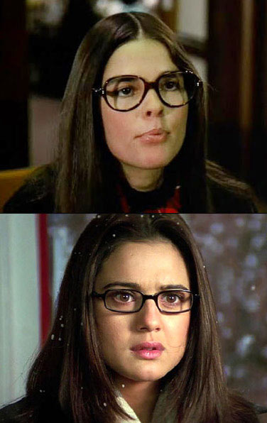 Ali MacGraw in Love Story and Preity Zinta in Kal Ho Naa Ho