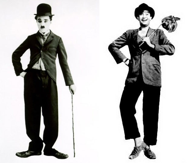 Charlie Chaplin and Raj Kapoor in Shree 420