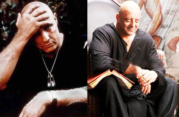 Marlon Brando in Apocalypse Now, Sanjay Dutt in Agneepath