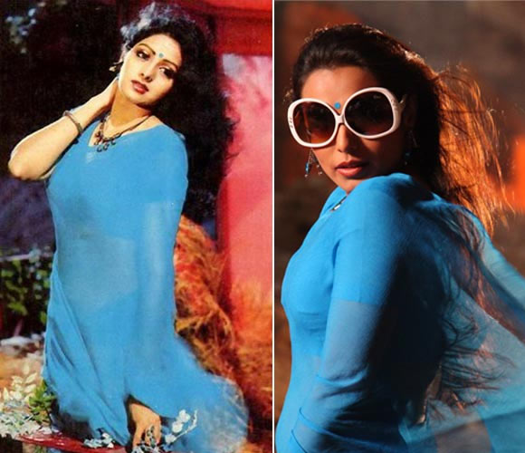 Sridevi in Mr.India, Rani Mukerji in Aiyyaa