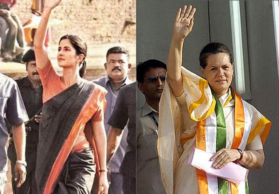 Katrina Kaif in Rajeneeti, Sonia Gandhi