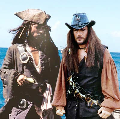 Johnny Depp in Pirates Of The Caribbean, Jackie Shroff in Bhoot Unkle