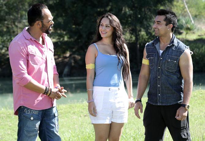 Rohit Shetty, Deana Uppal and Ajaz Khan