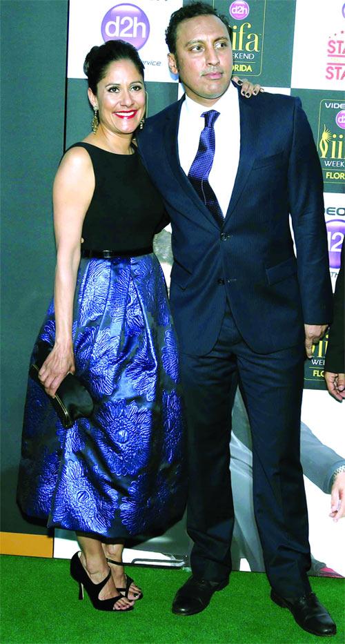 Sakina Jaffery with Asif Mandvi
