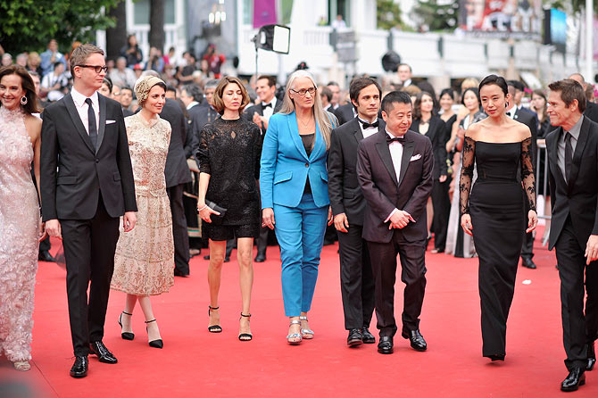 Jury members Carole Bouquet, Nicolas Winding Refn, Leila Hatam, Sofia Coppola, Jury President Jane Campion, Gael Garcia Bernal, Zhangke Jia, Do-yeon Jeon and Willem Dafoe