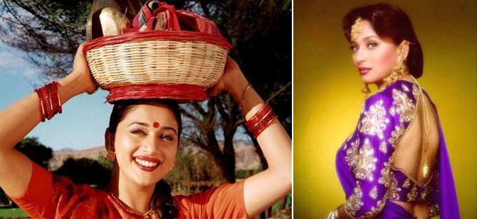 Madhuri Dixit in Mrityudand and Hum Aapke Hain Koun..!