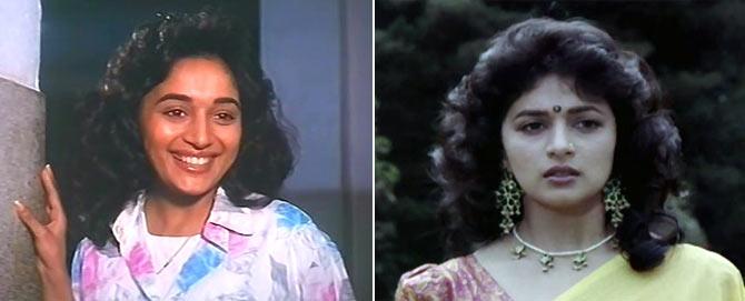Madhuri Dixit in Prahaar and Deewana Mujhsa Nahin