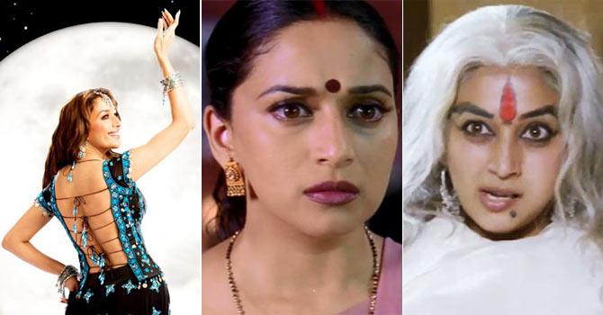 Madhuri Dixit in Aaja Nachle, Hum Tumhare Hain Sanam and Raja