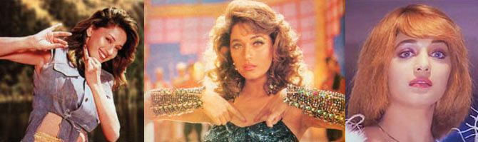 Madhuri Dixit in Koyla, Rajkumar and Yaarana