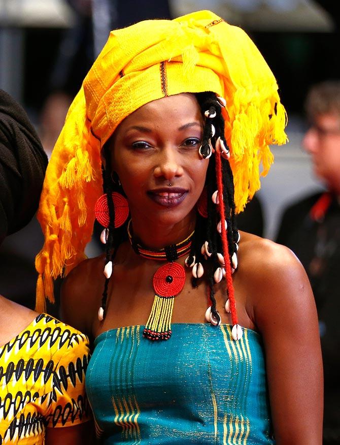 Cast member Fatoumata Diawara attends the Timbuktu premiere