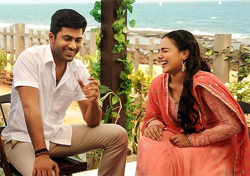 First look: Sharwanand teams up with Nithya Menen - Rediff