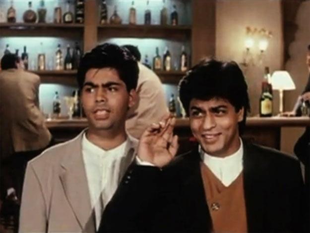 Karan Johar and Shah Rukh Khan in Dilwale Dulhaniya Le Jayenge