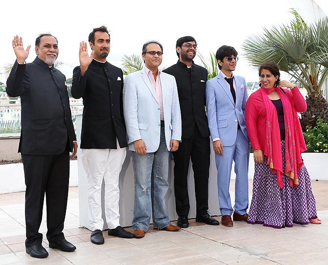 Lalit Behl, Ranvir Shorey, Dibakar Banerjee, Kanu Behl, Amit Sial and Guneet Monga