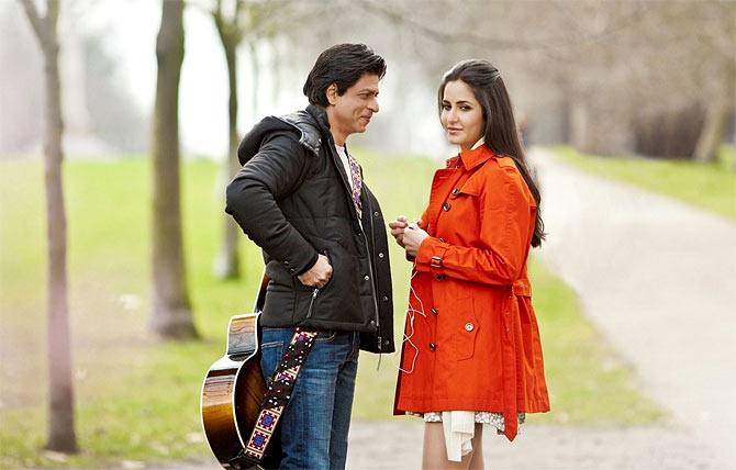 Katrina Kaif and Shah Rukh Khan in London, in Jab Tak Hai Jaan
