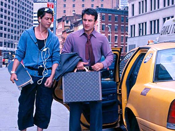 Saif Ali Khan and Shah Rukh Khan in New York, in Kal Ho Naa Ho