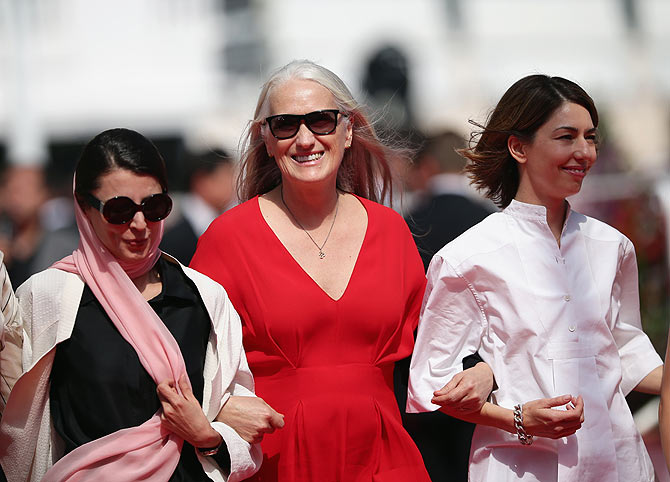Jury members Leila Hata and Sofia Coppola with jury president Jane Campion (centre)