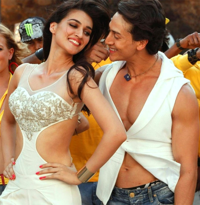 Kriti Sanon and Tiger Shroff in Heropanti