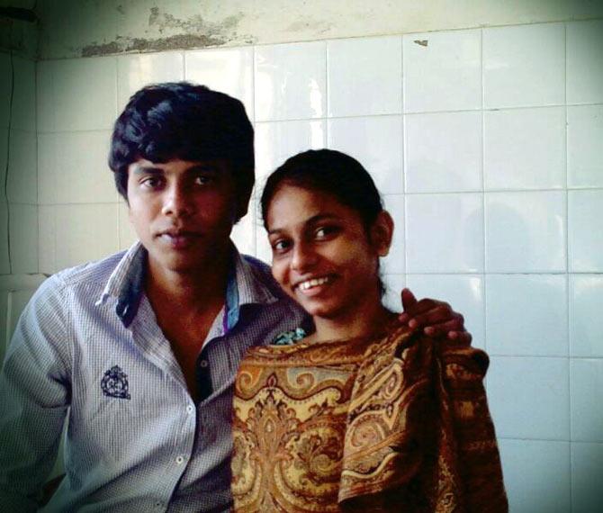 Vishwesh with his cousin Monika.