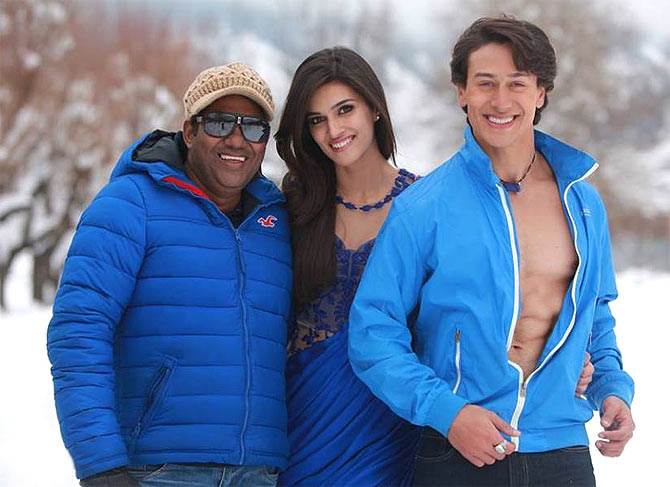 Sabbir Khan, Kriti Sanon and Tiger Shroff