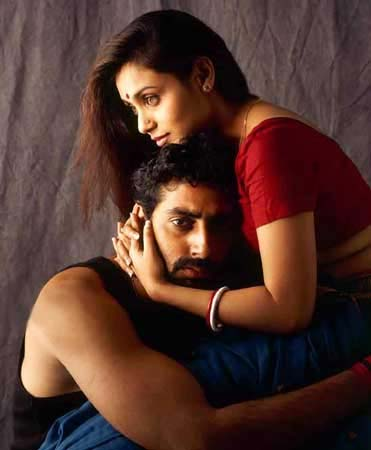 Abhishek Bachchan and Rani Mukerji in Yuva