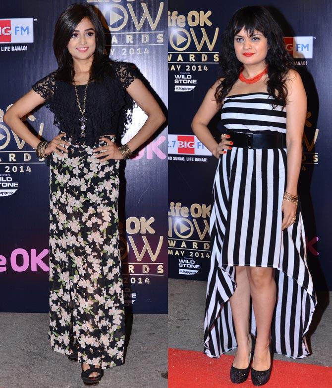 Monali Thakur and Aditi Sharma