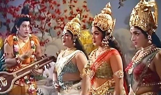 A scene from Saraswati Sabatham