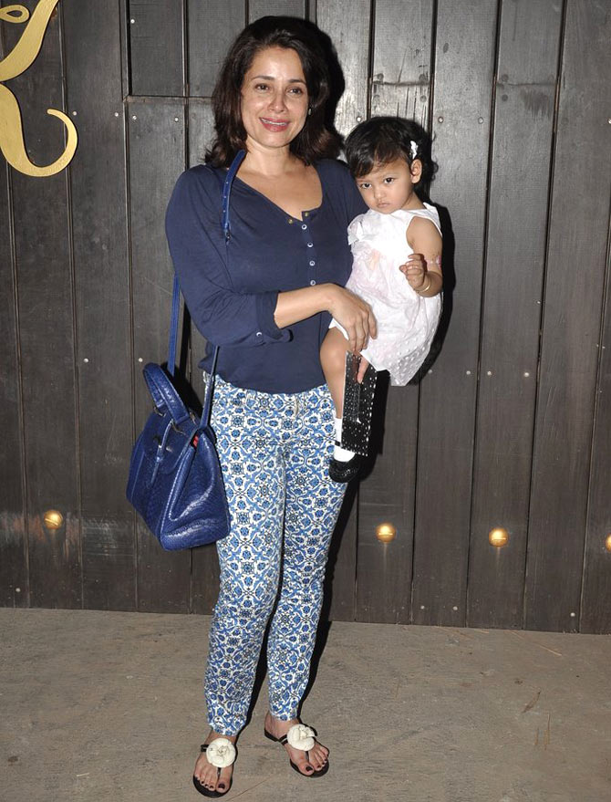 Neelam with daughter Ahana