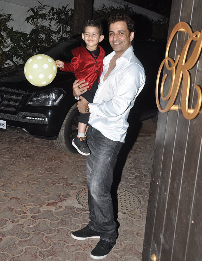 Ganesh Hegde with son Giann