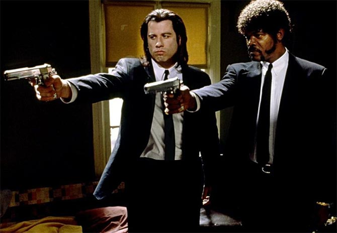 John Travolta and Samuel L Jackson in Pulp Fiction