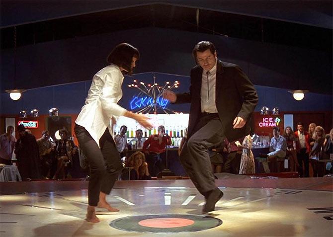 John Travolta, Uma Thurman in Pulp Fiction