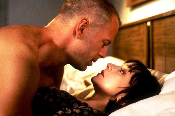 Bruce Willis and Maria de Medeiros in Pulp Fiction