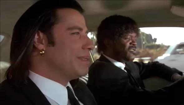 John Travolta and Samuel L Jackson in Pulp Fiction