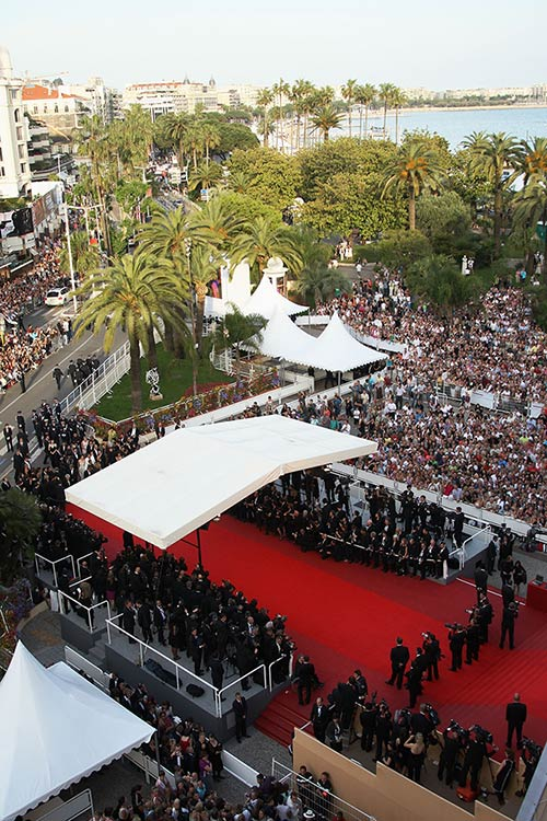Aerial view of Palais Des Festivals