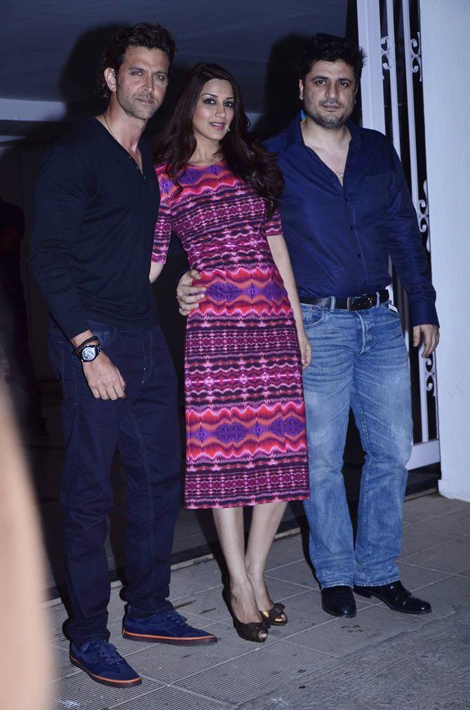 Hrithik Roshan, Sonali Bendre and Golide Behl
