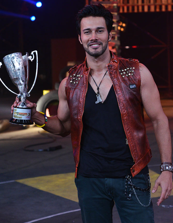 Rajneesh Duggal with his winning trophy