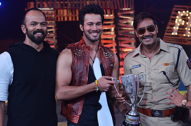 Rohit Shetty, Rajneesh Duggal, Ajay Devgn