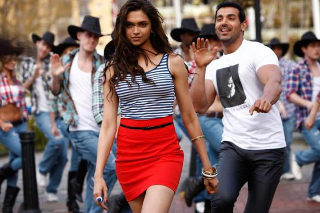 Deepika Padukone and John Abraham in Desi Boyz