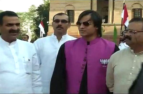 Vivek Oberoi at the swearing-in ceremony