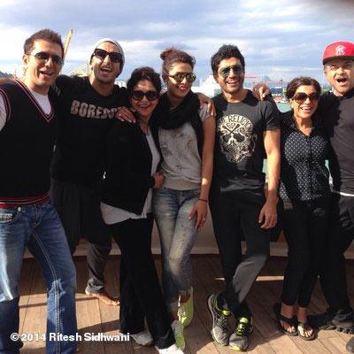 Ritesh Sidhwani, Ranveer Singh, director Zoya Akhtar, Priyanka Chopra, Farhan Akhtar, Shefali Shah and Anil Kapoor
