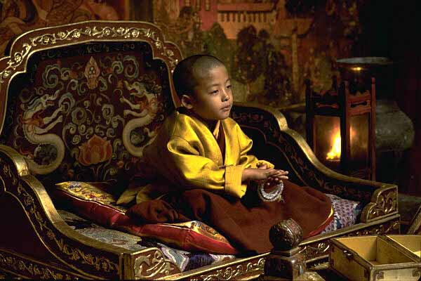 Tenzin Yeshi Paichang as the young Dalai Lama in Kundun