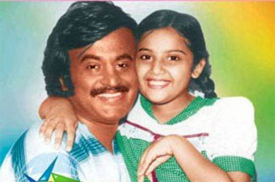 Rajinikanth and Meena in Anbulla Rajinikanth