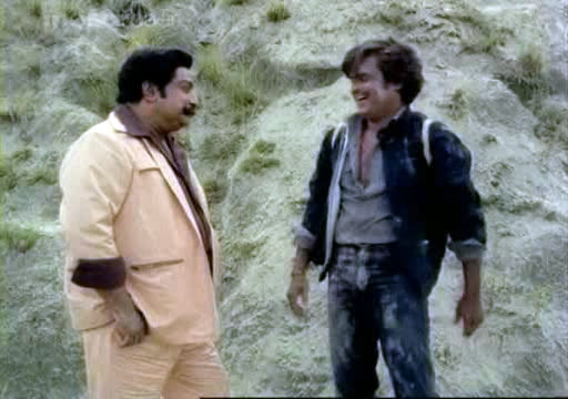 Sivaji Ganesan and Rajinikanth in Viduthalai