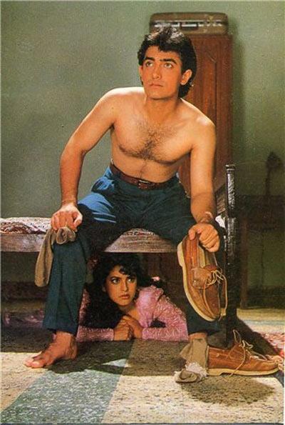 Aamir Khan with Juhi Chawla