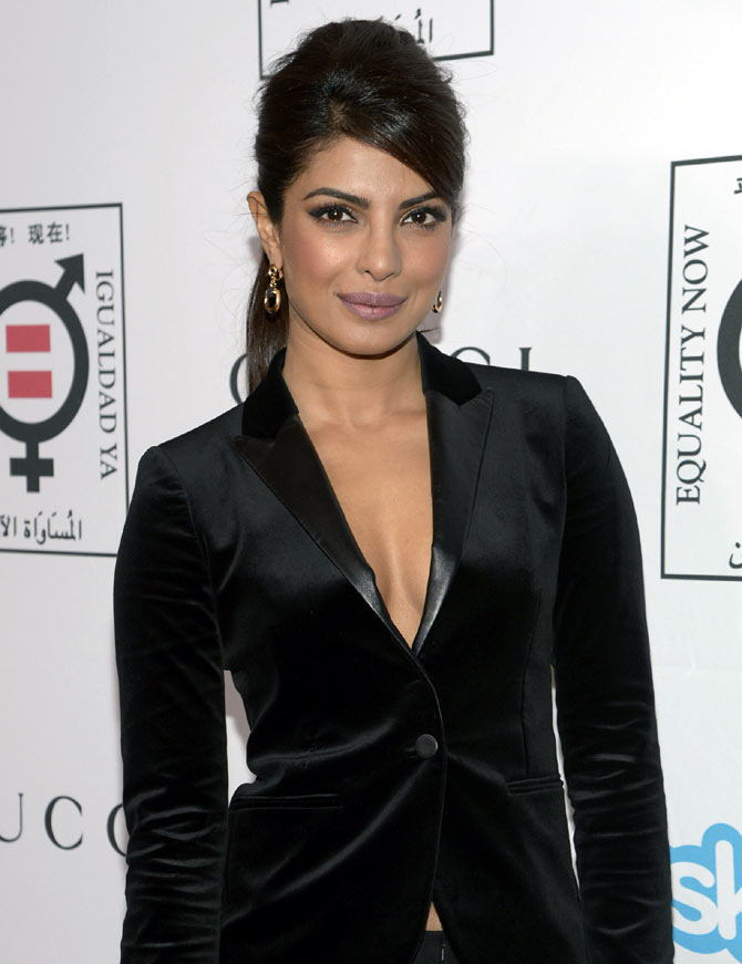Priyanka Chopra's day out with Salma Hayek - Rediff com movies
