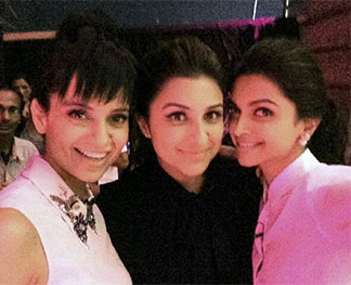Kangna Ranaut, Parineeti Chopra and Deepika Padukone