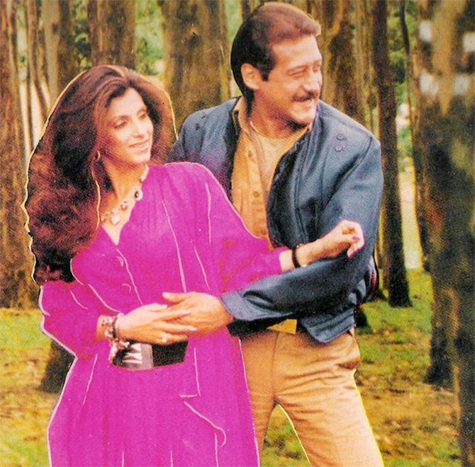 Dimple Kapadia and Jackie Shroff in Ram Lakhan
