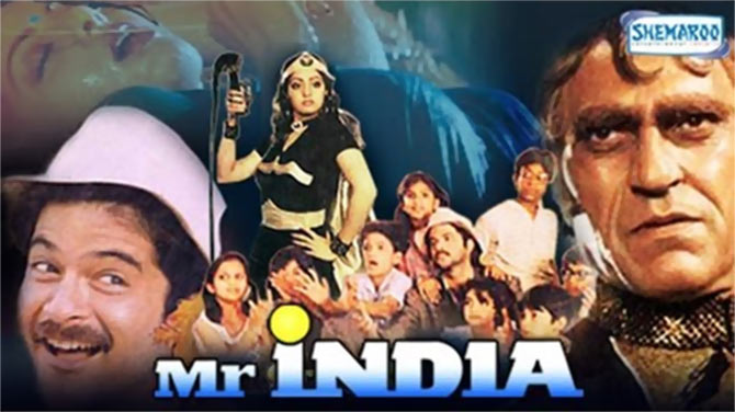 Movie poster of Mr India