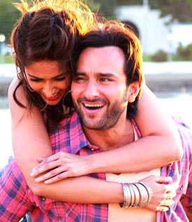 Ileana D'cruz and Saif Ali Khan in Happy Ending