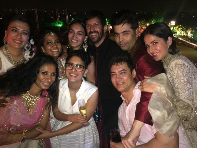 Aamir Khan, Kiran Rao, Katrina Kaif, Arpita Khan